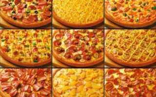 Какие пиццы бывают в меню