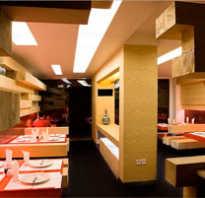 Интерьер зала ресторана