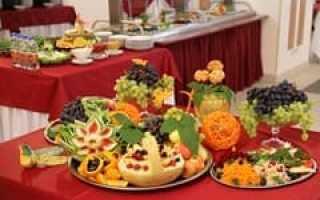 Меню шведского стола ужин