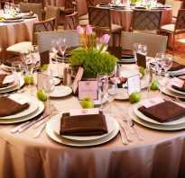 Сервировка стола в ресторане для официантов