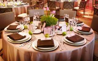 Правила сервировки стола для официанта в ресторане