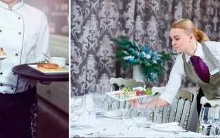 Обязанности официантки в кафе