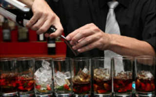 Оформление барной стойки в кафе или ресторане