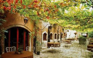 Интерьер кафе в итальянском стиле